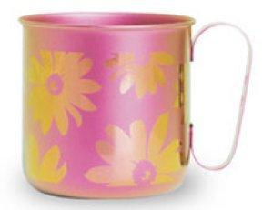 画像1: 純チタンデザインマグカップ フラワー(ピンク)