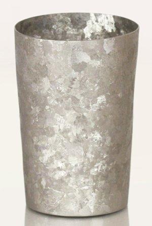 画像1: 純チタン製二重タンブラー 窯創り ライト シルバー