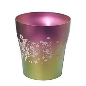画像1: 二重タンブラー 華チタン サクラサク ピンク