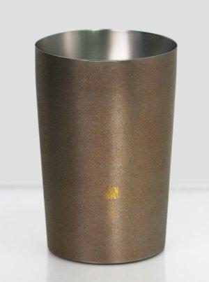 画像1: 純チタン製二重タンブラー 然 ライト 銀鼠