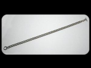 画像1: チタン喜平ネックレス 50cm チタンプラチナ