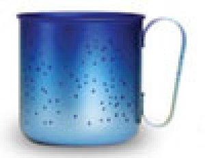 画像1: 純チタンデザインマグカップ スター(ブルー)