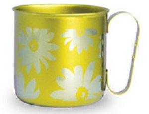 画像1: 純チタンデザインマグカップ フラワー(イエロー)